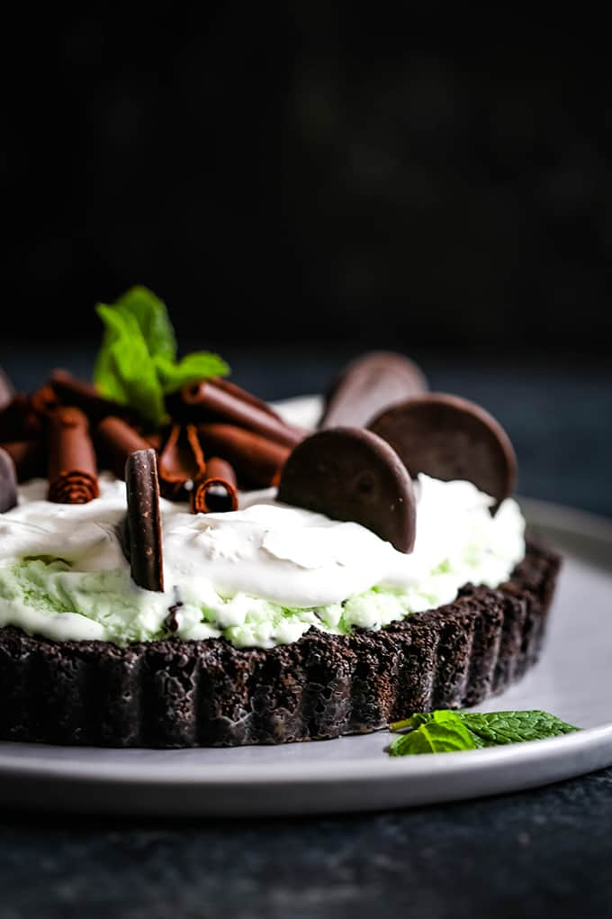 Grasshopper Ice Cream Tart- Melanie Makes