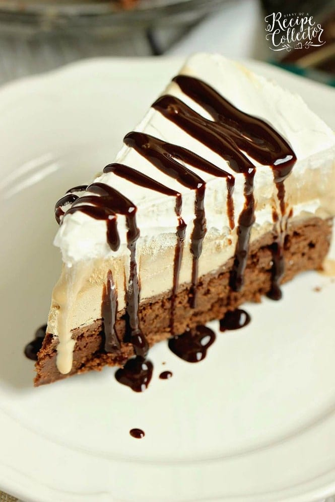 Mocha Brownie Ice Cream Cake - Diary of a Recipe Collector