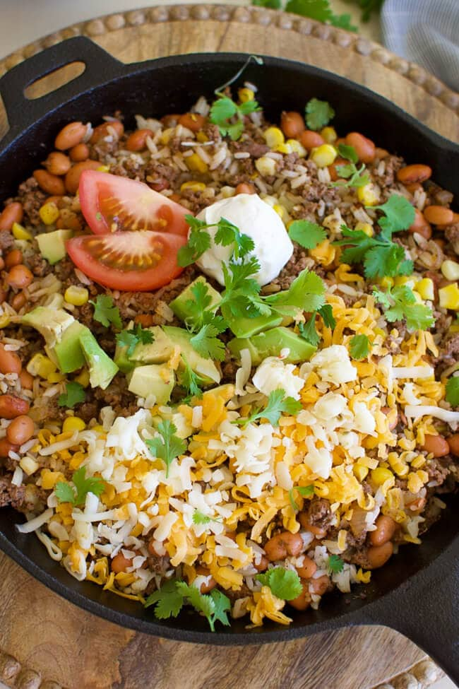 Thursday: Easy Beef Burrito Skillet- Little Dairy on the Prairie