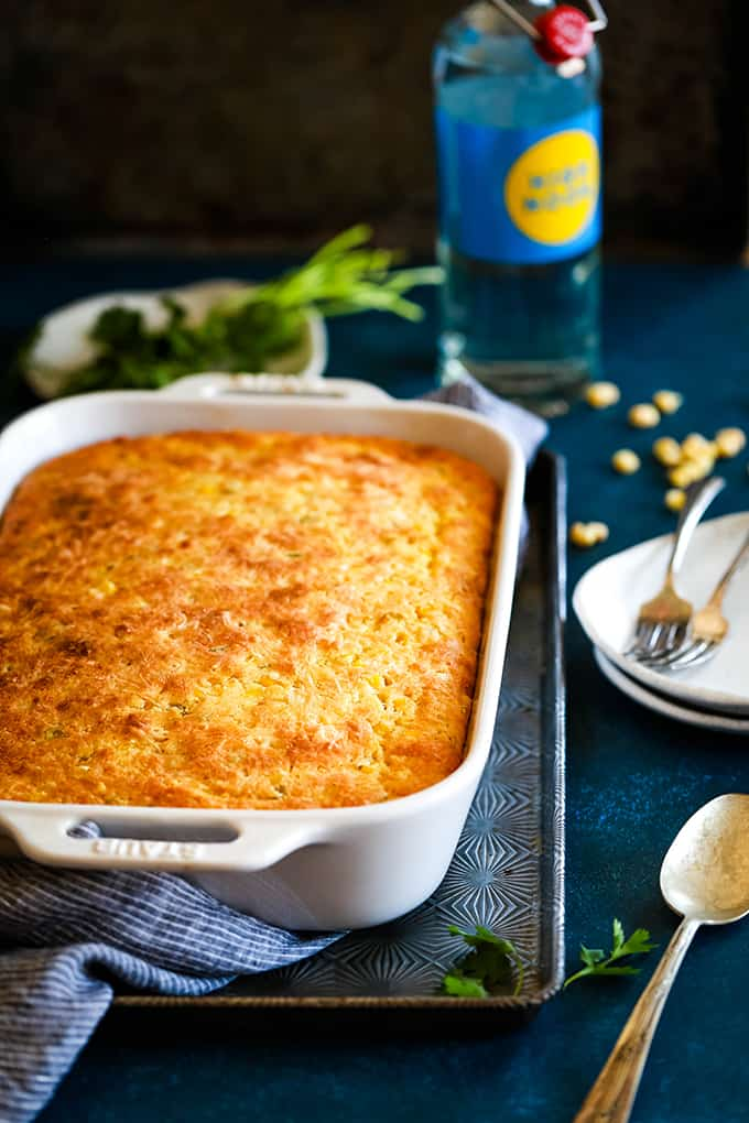 Side Dish: Southwest Green Chile Corn Casserole - Melanie Makes