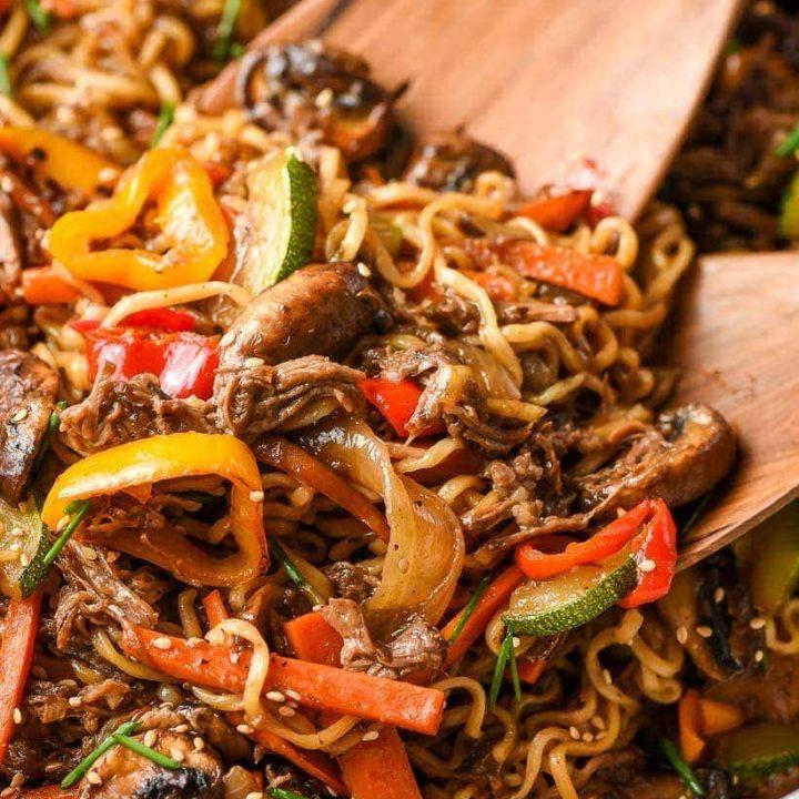 Beef Ramen Stir Fry