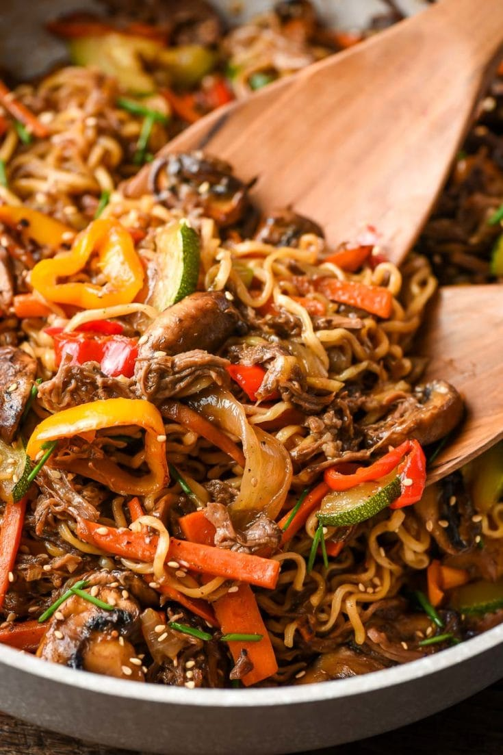30 Minute Beef Ramen Stir Fry Neighborfood