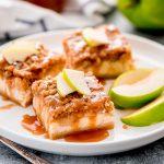 Caramel Apple Cheesecake Bars - Garnish & Glaze
