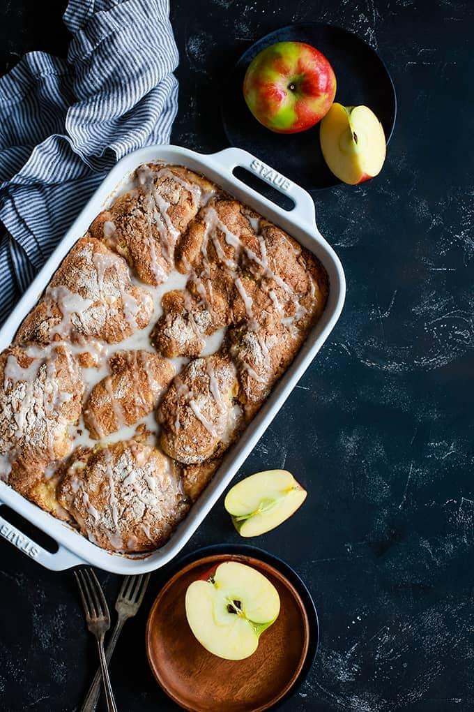 Caramel Apple Cheesecake Coffee Cake - Melanie Makes