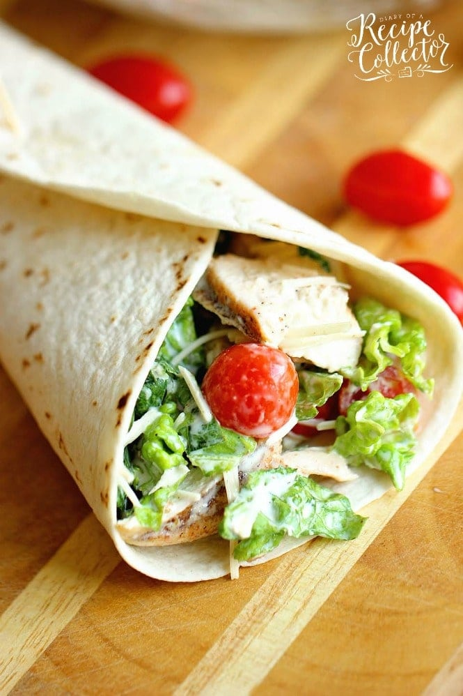 Lunch: Chicken Caesar Wrap - Diary of a Recipe Collector