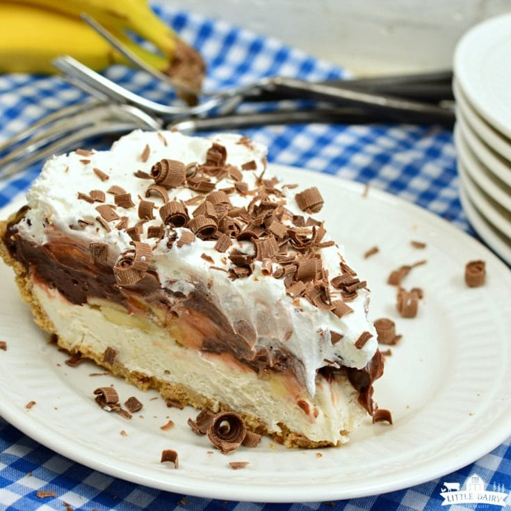 Dessert: No Bake Chocolate Banana Cream Pie - Little Dairy on the Prairie