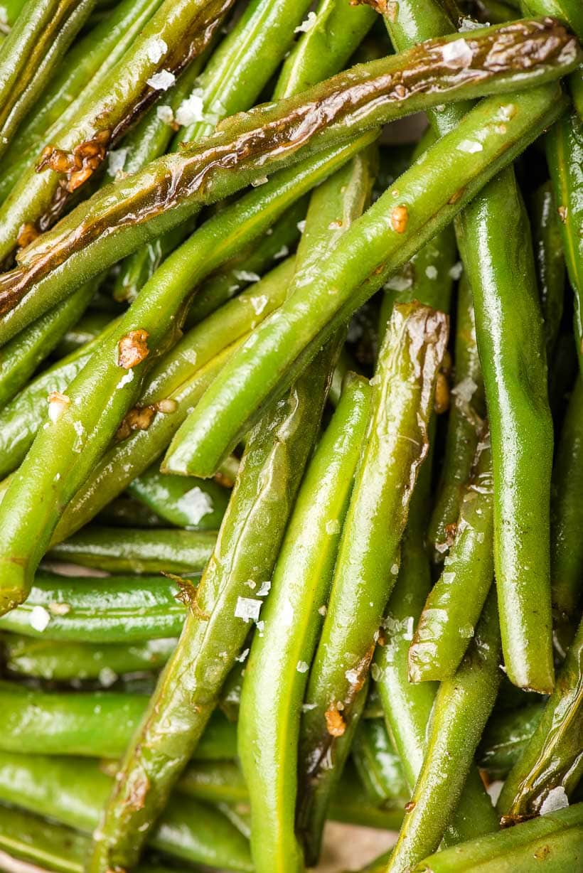 Sauteed Green Beans up close