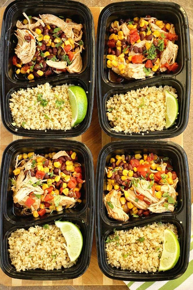 Monday: Instant Pot Santa Fe Chicken over Quinoa - Diary of a Recipe Collector