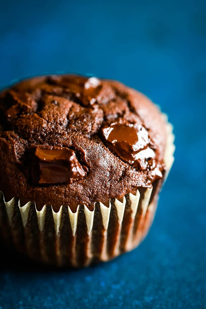 Peanut Butter Mocha Chocolate Chip Muffins - Melanie Makes