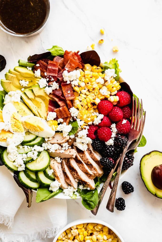 Wednesday: Summer Berry Cobb Salad - Garnish & Glaze