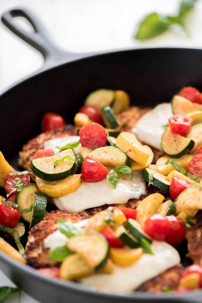 Wednesday: Summer Parmesan Chicken-Garnish and Glaze