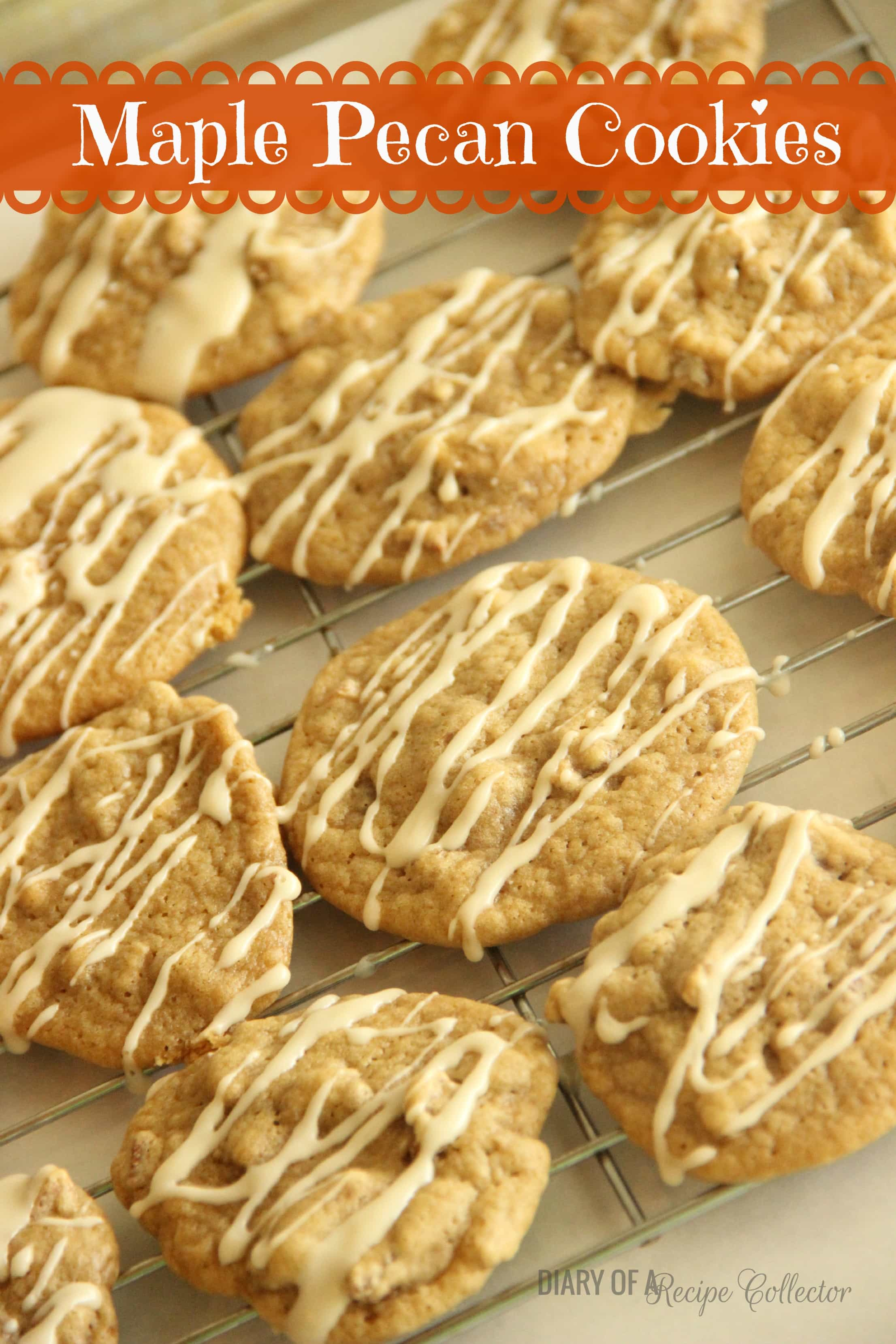 Dessert: Maple Pecan Cookies - Diary of a Recipe Collector