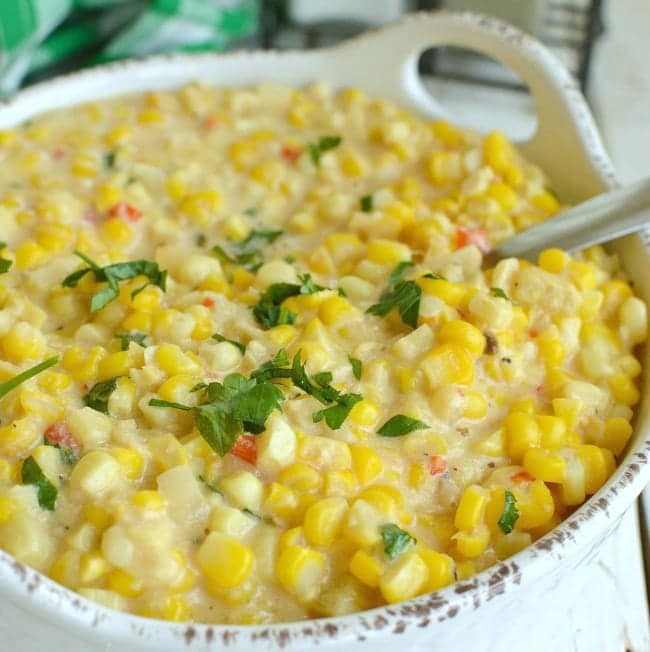 Side Dish: Slow Cooker Cheesy Creamed Corn- Little Dairy on the Prairie