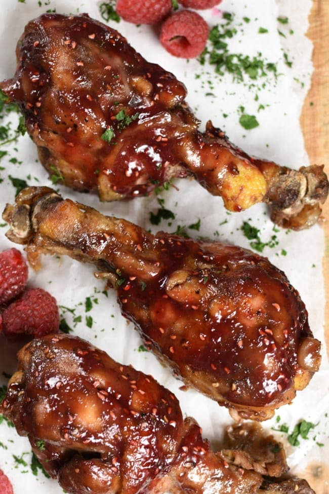 WEDNESDAY- Slow Cooker Raspberry Chicken Drumsticks