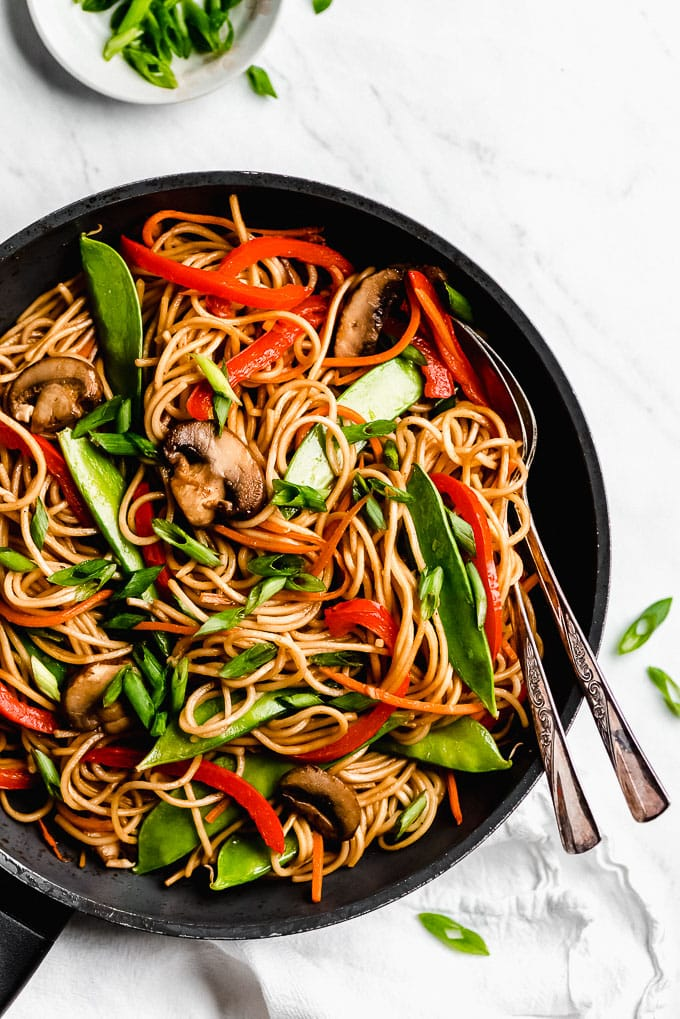 MONDAY- 15-Minute Vegetable Lo Mein