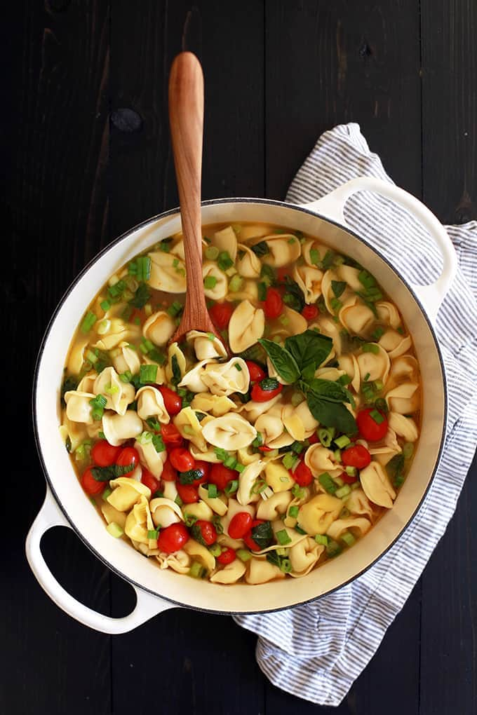 Wednesday - Cherry Tomato and Tortellini Soup
