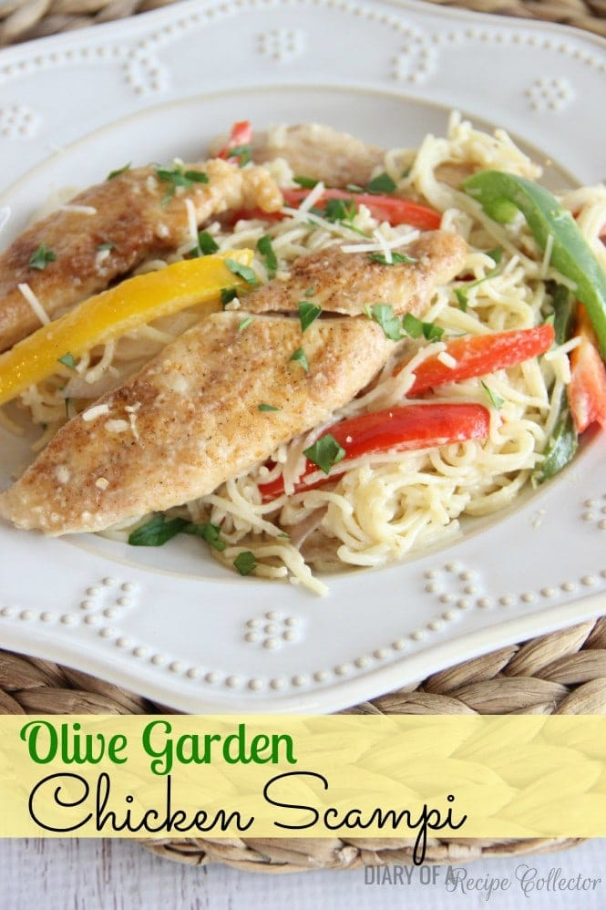 FRIDAY- Copycat Olive Garden Chicken Scampi