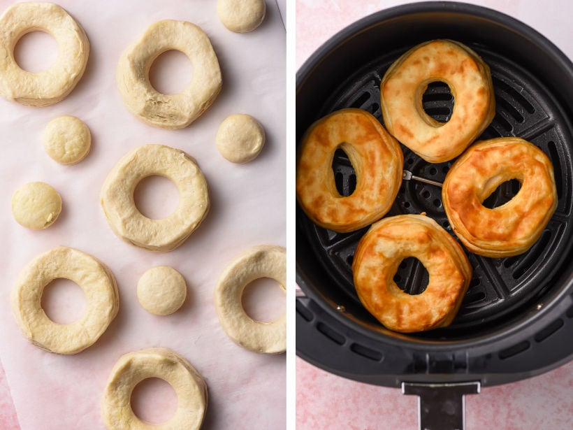 biscuit donuts in an air fryer