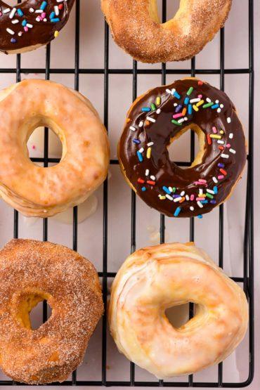 glazed air fried donuts