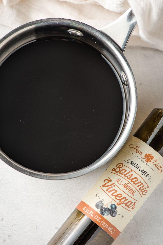 sauce pot of balsamic vinegar