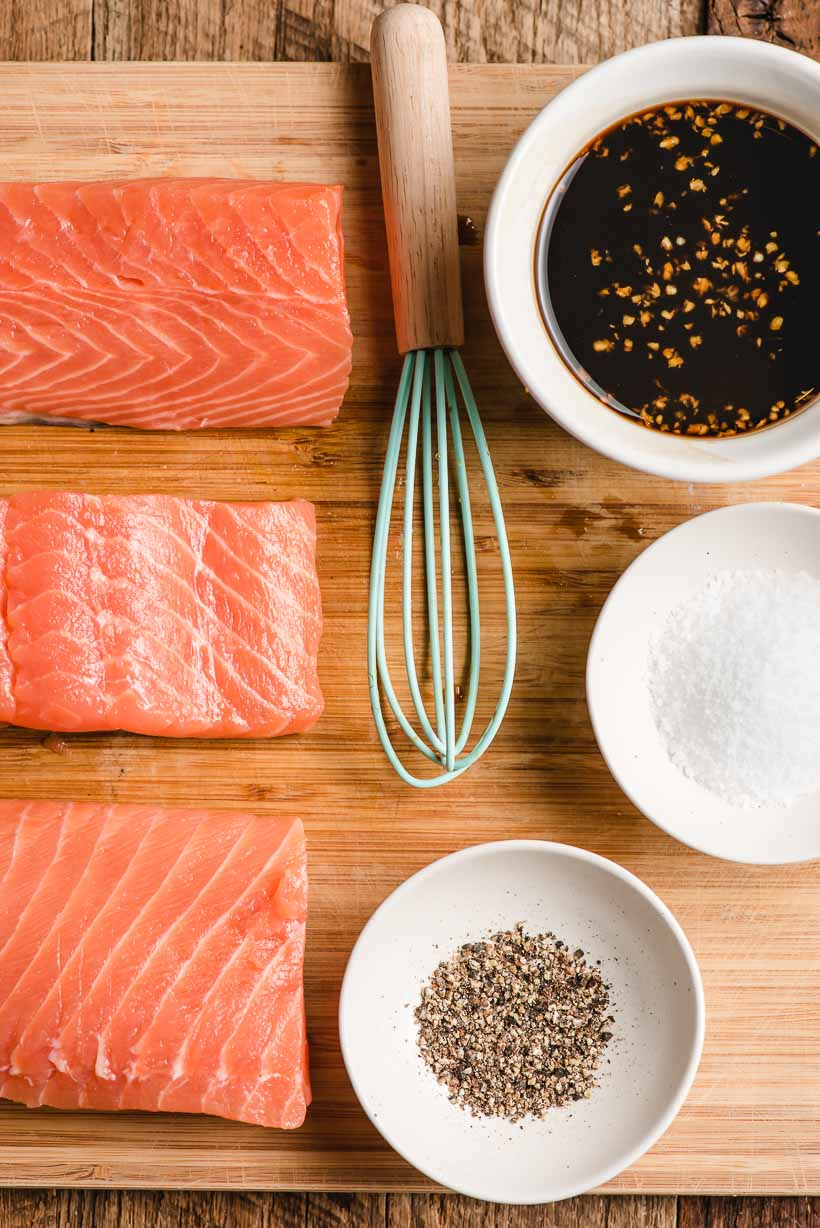 ingredients for honey soy salmon
